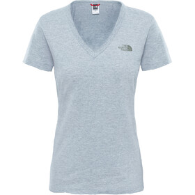 The North Face W's Simple Dom S/S Tee TNF Light Grey Heather/TNF Black